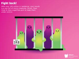 what dental plaque hides